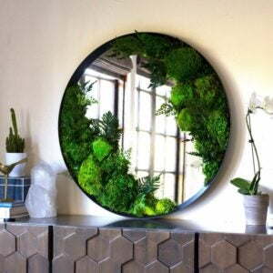The Best Etsy Gifts Option: Preserved Moss Art Framed Mirror