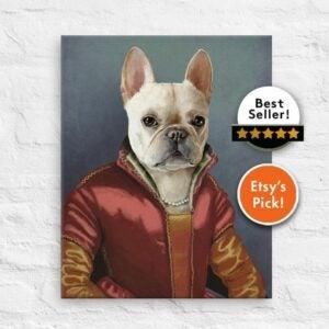 The Best Etsy Gifts Option: Royal Pet Portrait