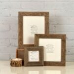 The Best Etsy Gifts Option: Rustic Natural Reclaimed Cedar Wood Picture Frame