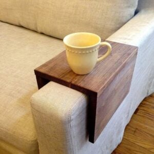 The Best Etsy Gifts Option: Sofa Arm Tray Table