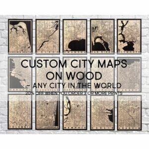 The Best Etsy Gifts Option: Wood Wall Art