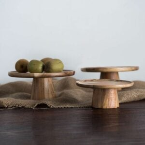 The Best Etsy Gifts Option: Wooden Cake Stand