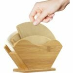 The Best Gifts for Coffee Lovers Option: Unibene Bamboo Coffee Filter Holder