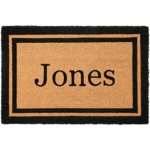 The Best Personalized Gifts Option: Nance Industries YourOwn Custom Name Welcome Mat