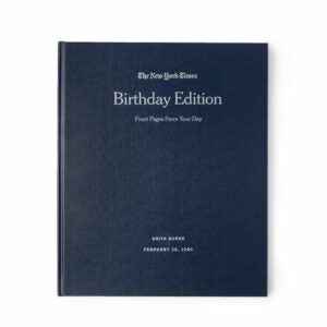 The Best Personalized Gifts Option: New York Times Custom Birthday Book