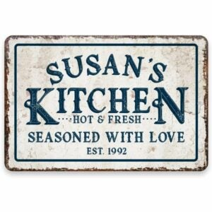 The Best Personalized Gifts Option: Pattern Pop Personalized Vintage Metal Room Sign