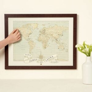 The Best Personalized Gifts Option: Personalized Anniversary Pushpin World Map
