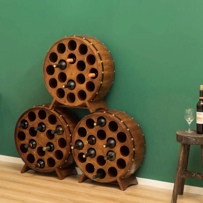 wine rack ideas - barrel style