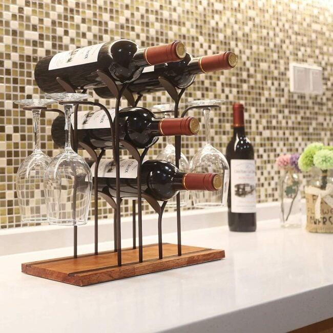 wine rack ideas countertop
