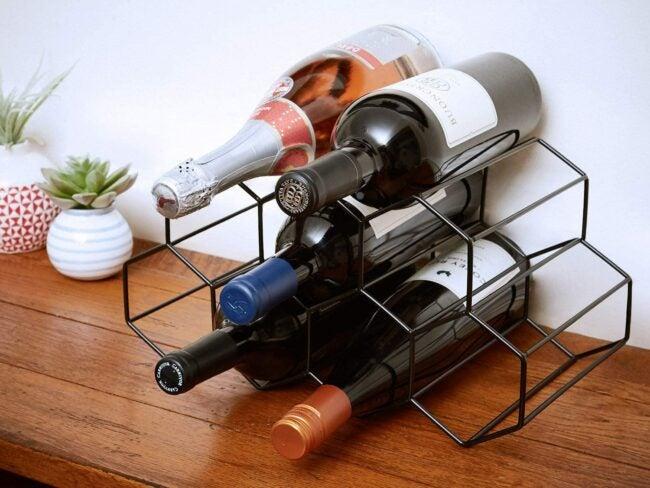 wine rack ideas - geometric