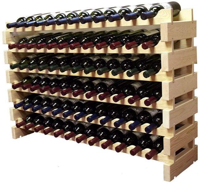 wine rack ideas large crate
