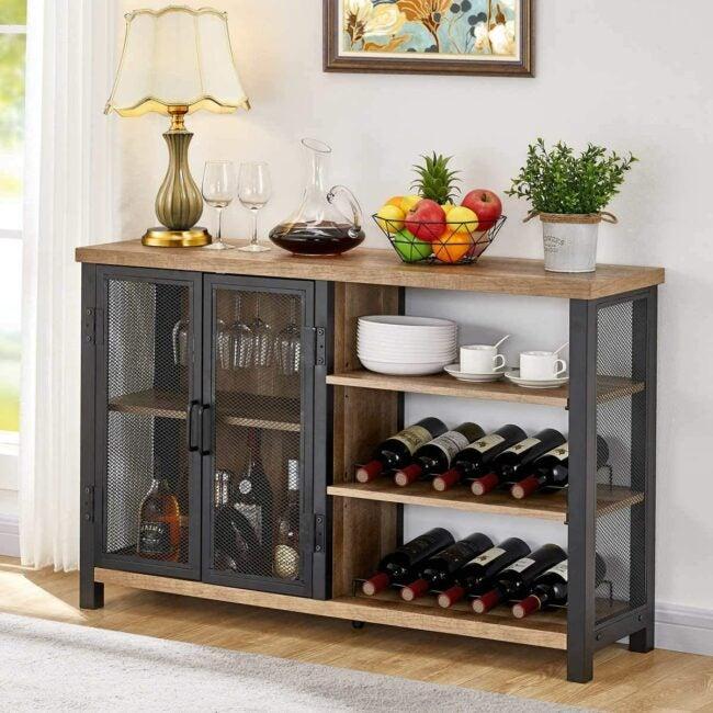 wine rack ideas - shelf