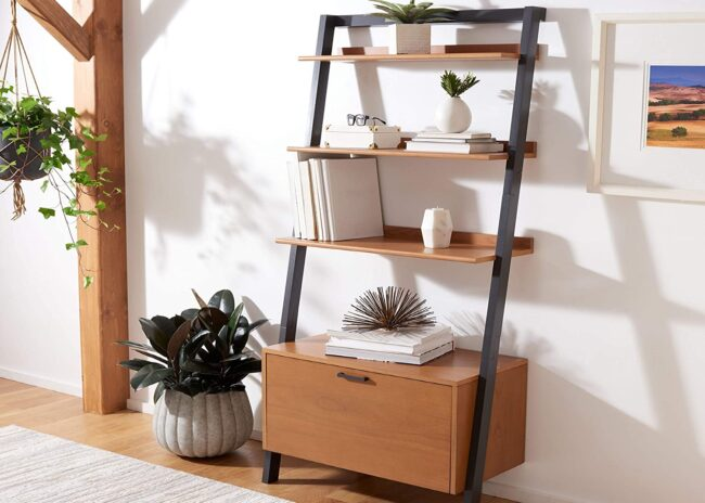 Deals Roundup 10/7 Option: Safavieh Home Collection Vlad Natural and Charcoal 3-Shelf Etagere