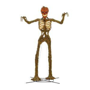 Terrifying 12-Foot Giant Inferno Pumpkin Skeleton