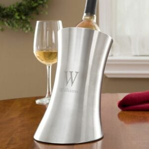 The Engraved Gifts Option: Personalized Stainless Steel Wine Chiller