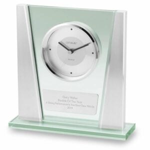 The Engraved Gifts Option: Modern Glass Clock