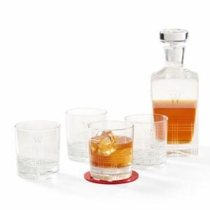 The Engraved Gifts Option: Etched Windowpane Decanter and DOF Set