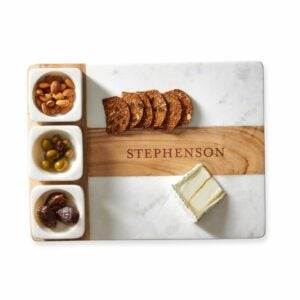 The Engraved Gifts Option: Wood and Marble Appetizer Serving Platter