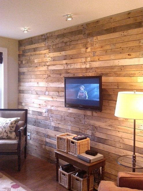 Diy Wood Wall Treatments 5 Ideas, Wood Wall Living Room
