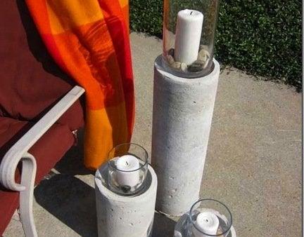 Concrete candle column thumb