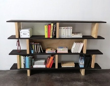 Diy plywood bookcase