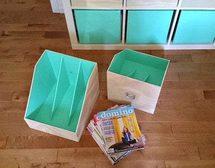 Diy plywood magazine file