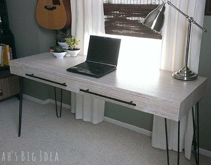 Diy plywood desk finished