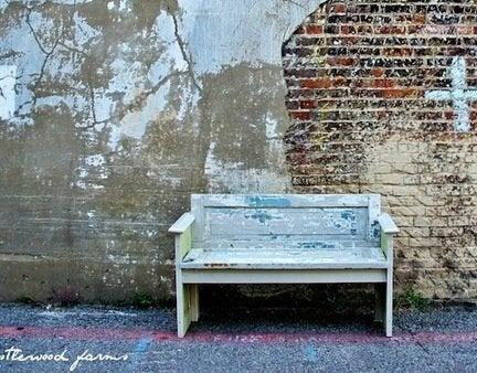 Diy bench with old door