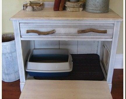 Diy dresser turned cat box