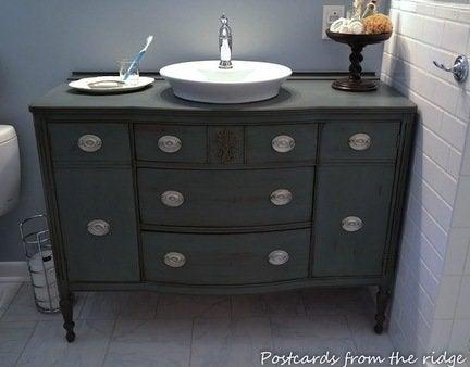 Diy dresser bathroom vanity