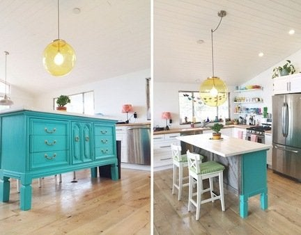 Dresser kitchen island