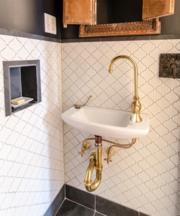 Bathroom trends unlacquered brass
