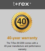 T rex 40 warranty