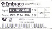 Embraco fs for 3pcompressor label