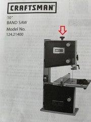 Craftsman band saw blade tension knob 2