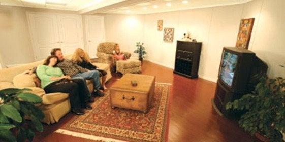 Dry basement living space