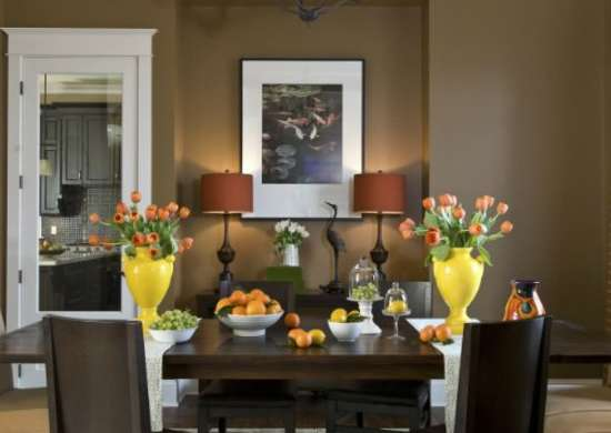 The Best Paint Colors For Dark Rooms 9, What Wall Color Goes With Chocolate Brown Furniture