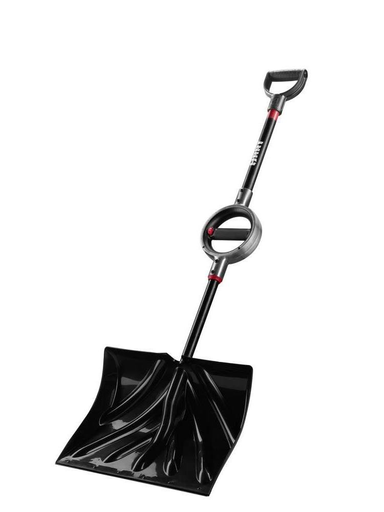 Light weight Ergonomic Snow Shovel with metal handle and cushion grip on handle