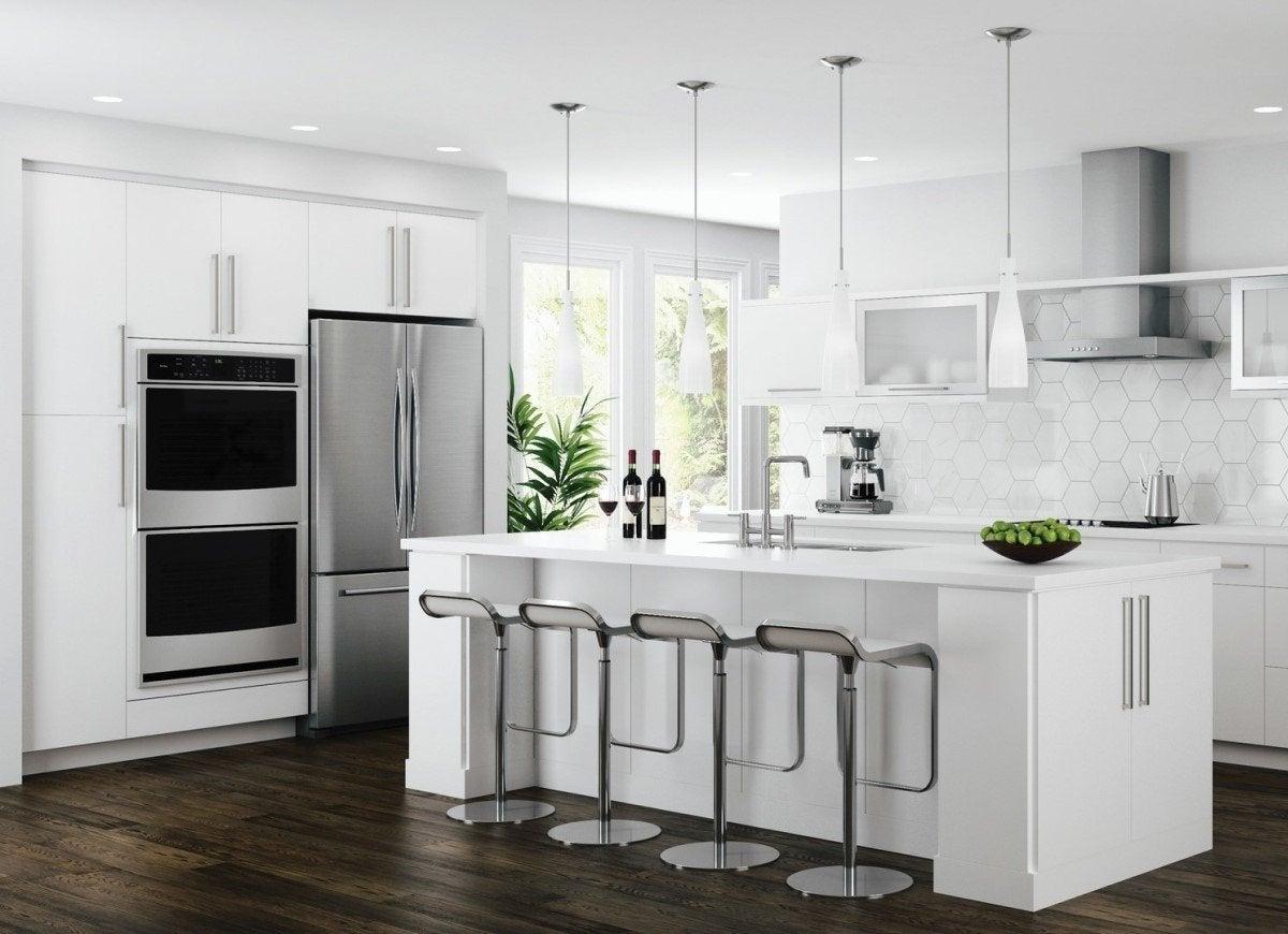 Flat Kitchen Cabinets