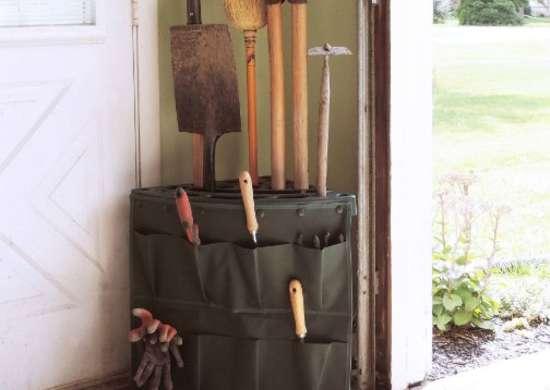 Long Handle Tool Organizer Garage Garden Tool Storage Rack