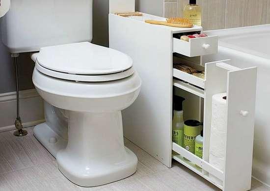 Bathroom Storage Ideas 10 Tricks, Bathroom Storage Behind Toilet