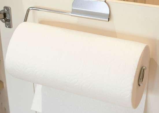 Simple Plastic Tissue Holder Vertical Roll Paper Towel Holder Kitchen Tool WE