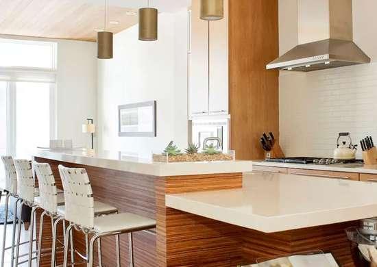 Простая кухня с чистыми линиями