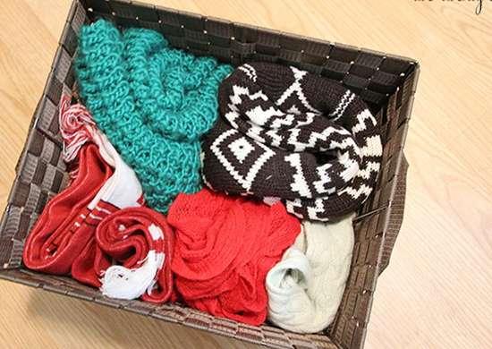 Organize Winter Hats Gloves Scarves