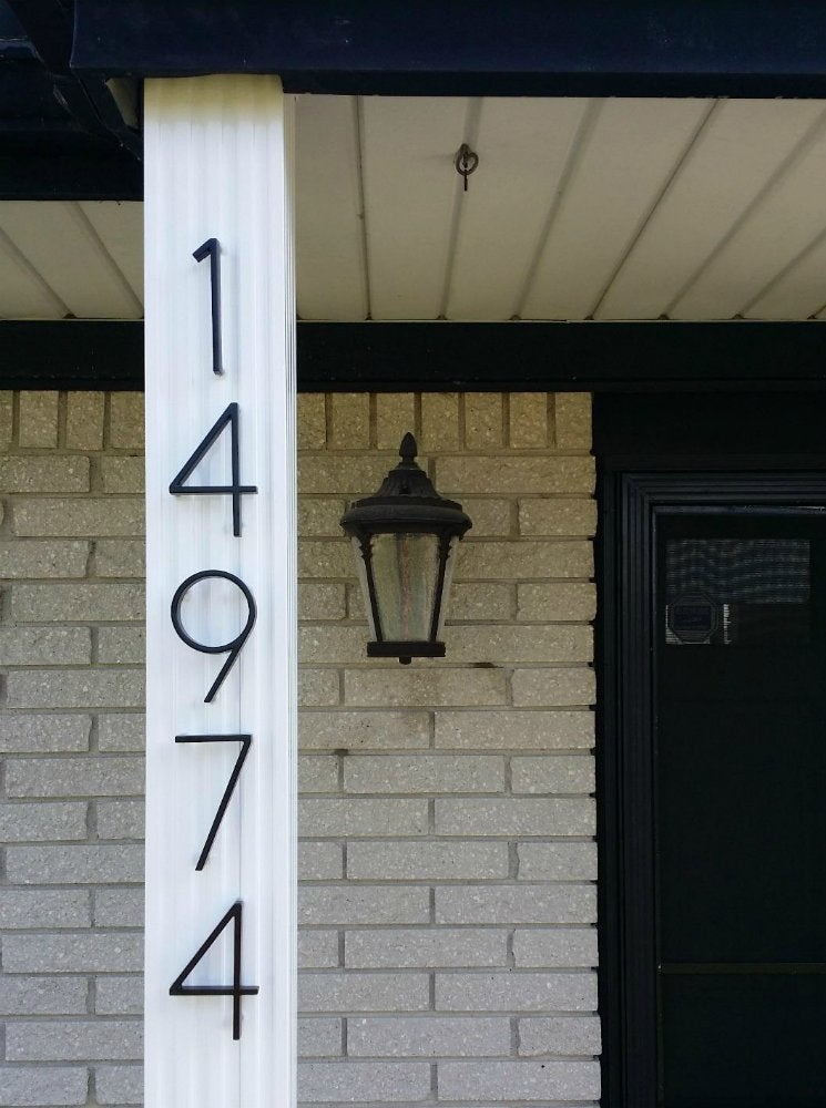 House Numbers, Lamp Post Address Sign