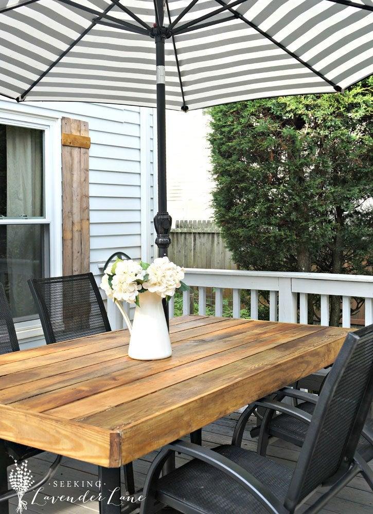 Diy Patio Table 15 Easy Ways To Make, Rustic Patio Furniture