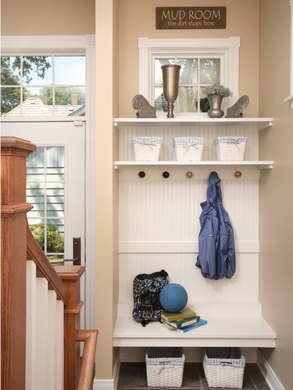 Normandy remodeling stairs mudroom