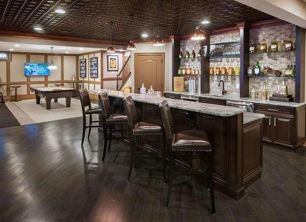 12 Basement Bars We Love Bob Vila, Pub Style Basement