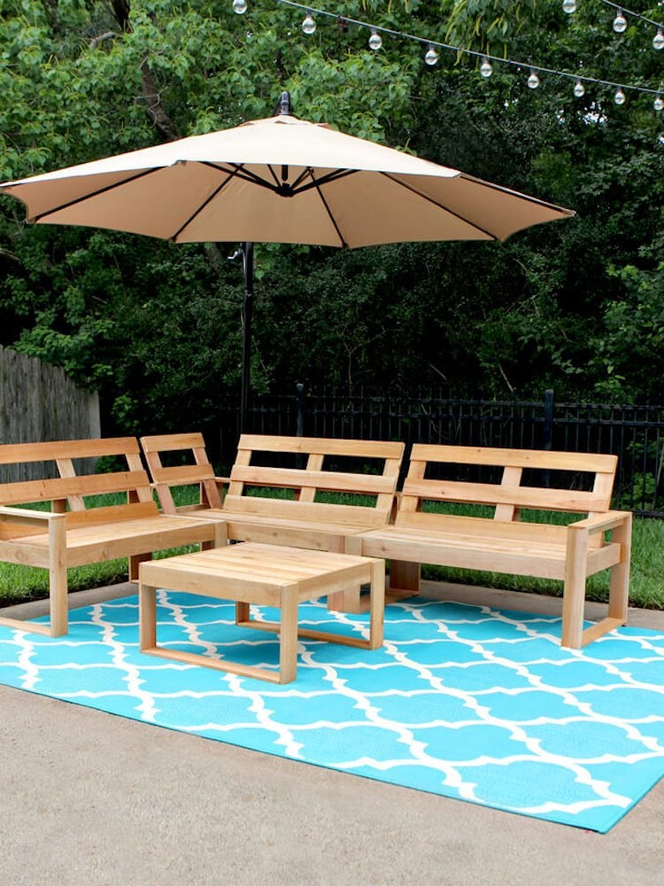 Diy Outdoor Furniture 10 Easy, Build Patio Furniture Sectional