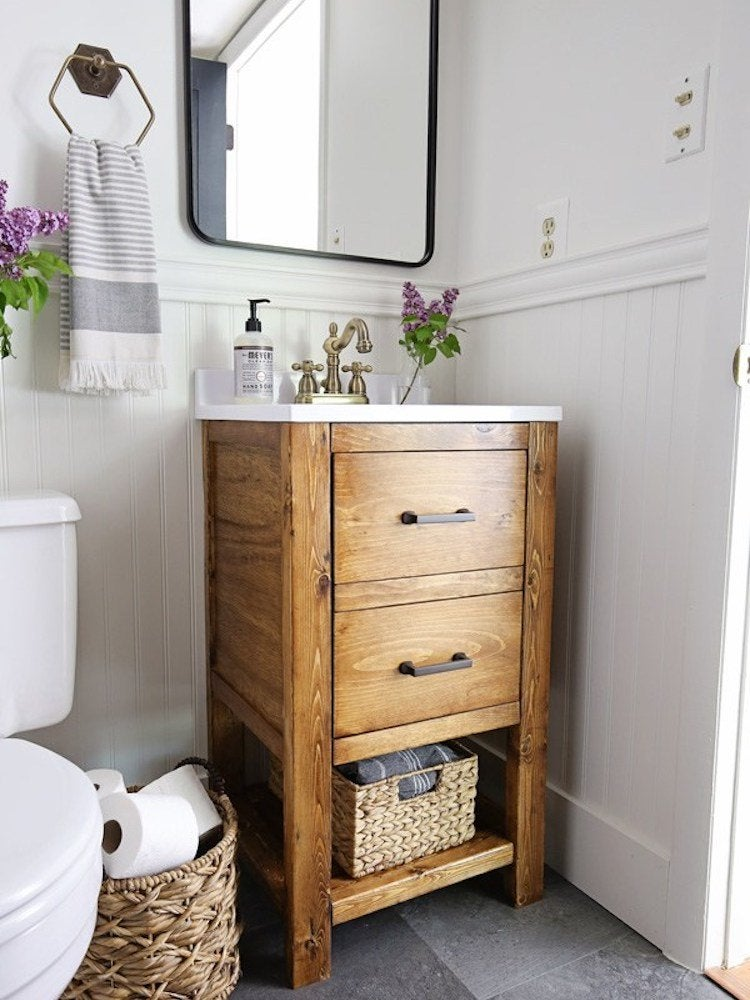 Diy Bathroom Vanity 12, How To Build A Bathroom Cabinet With Drawers